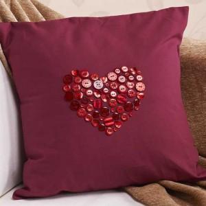 How To Make A Button Heart Cushion
