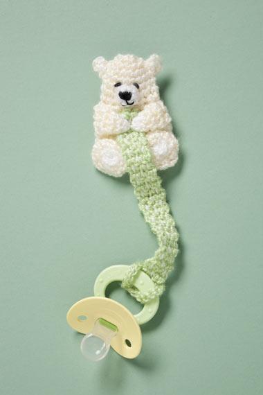 Crochet Teddy Pacifier