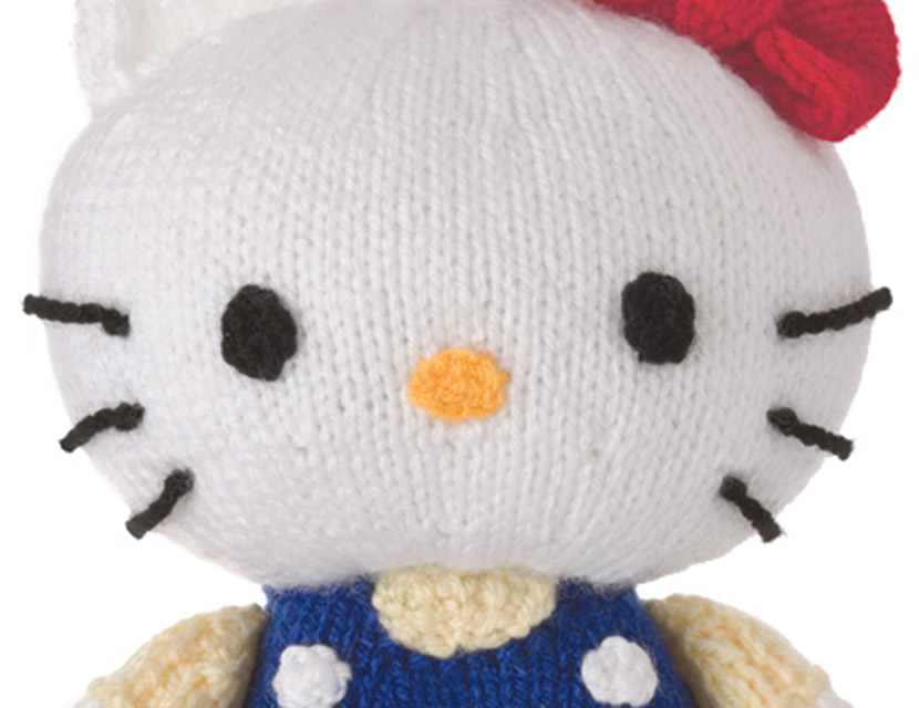 Knit a cute Hello Kitty Toy