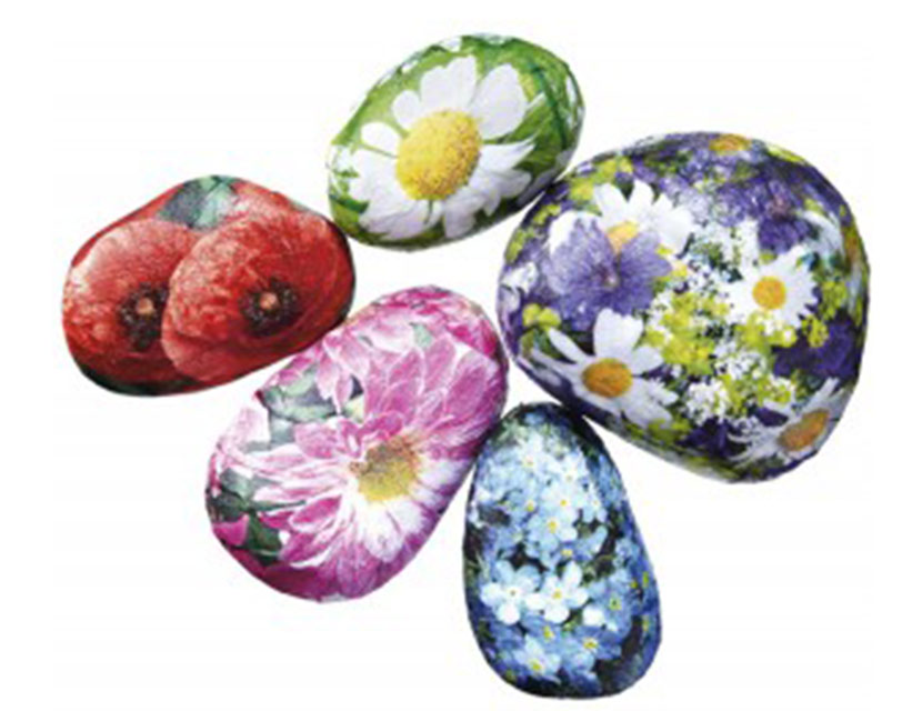 how to make a floral decoupage paperweight