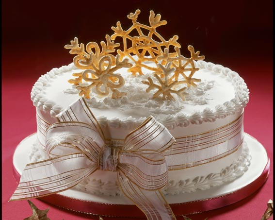 Christmas cake decorating ideas with royal icing - Decoration gateau glacage royal ...