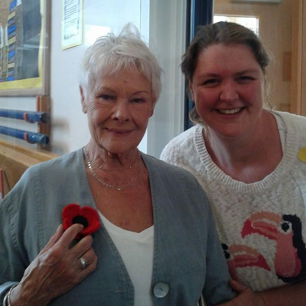 Dame Judi Dench Poppy Appeal