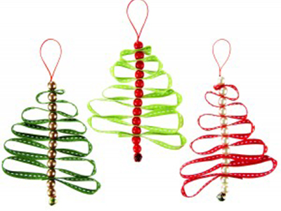 How to make ribbon christmas decorations for Using ribbon on christmas tree