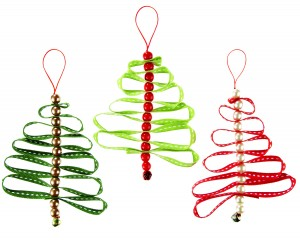 How To Make: Ribbon Christmas decorations