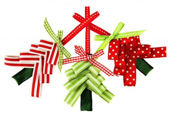 ribbontrees - Christmas Ribbon Decorations