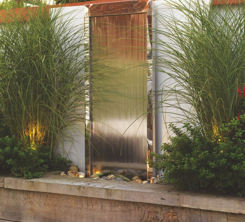 Contemporary Backyard Waterfalls : Contemporary Waterfall