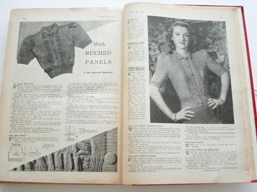 Vintage cardigan, Womans Weekly knitting pattern - Womans Weekly