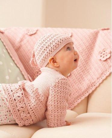 The Cutest Crochet Soft-Pink BabyToddler Dress!