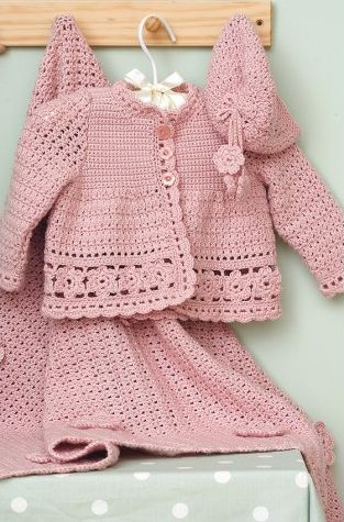 Crochet Patterns For Baby Stuffed Animals : Baby crochet pattern: Download the adorable pink set pattern