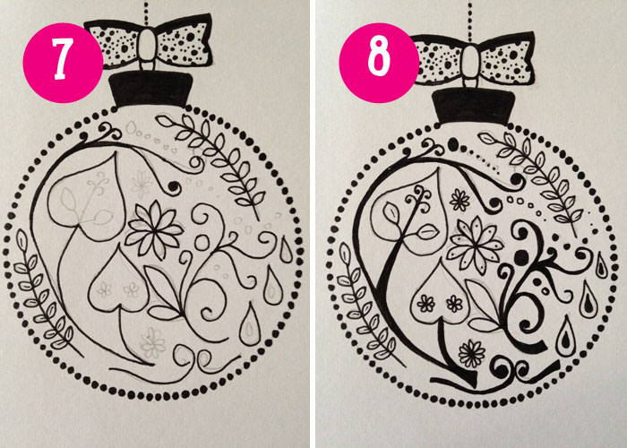 bauble card instructions
