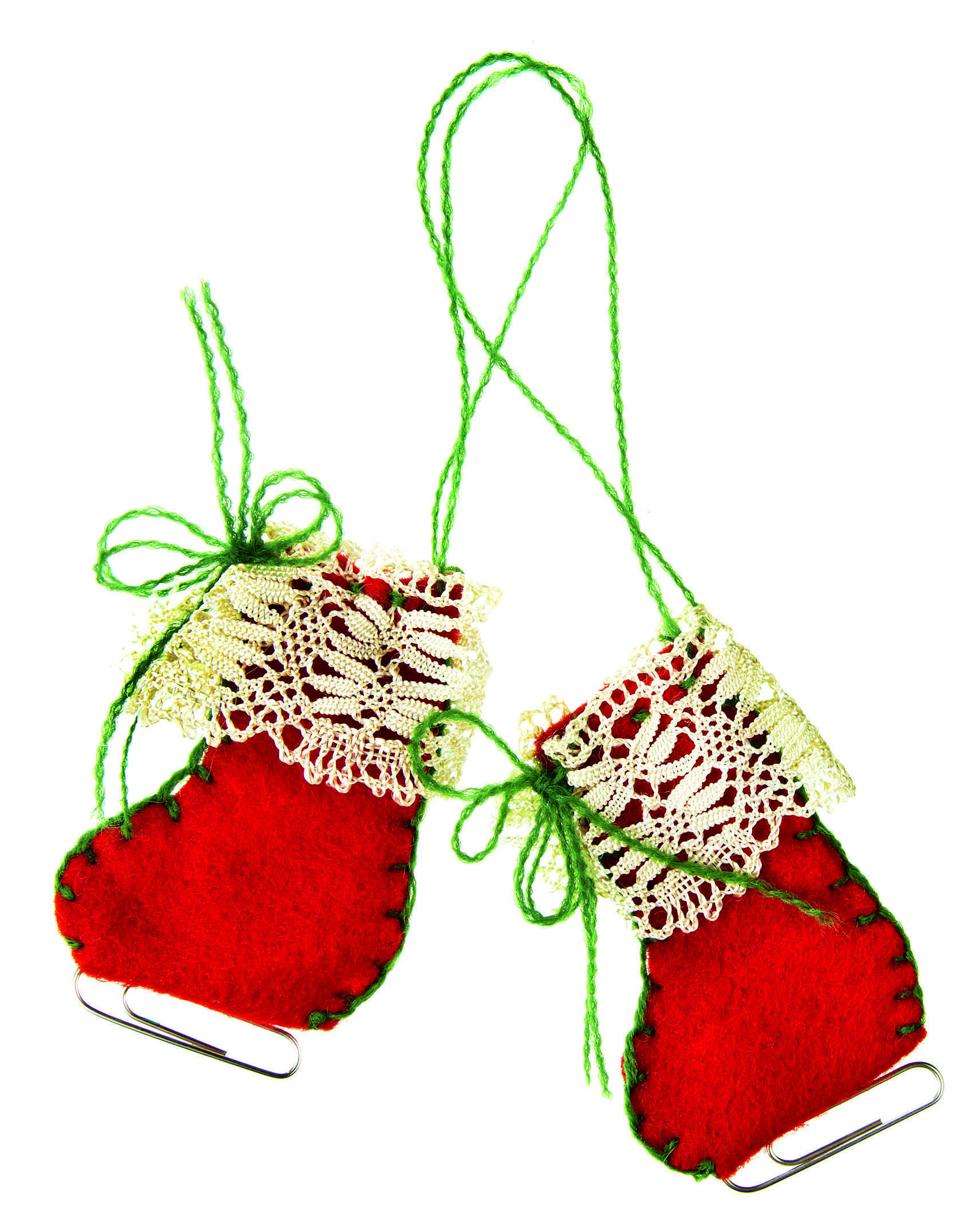 How To Sew: Ice skate Christmas tree decorations