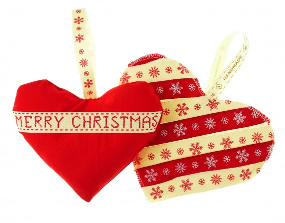 Christmas Heart.How To Sew Scented Christmas Hearts