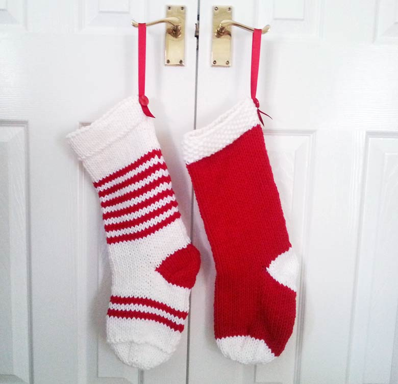 Christmas Stocking Knitting Pattern 2 Needles : The stockings before being sent into the office - click ...