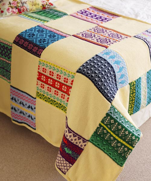 Join our 'Knit-A-Long' and make a beautiful patchwork knitted blanket