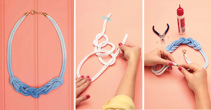How To Make A Dip Dye Braided Rope Necklace