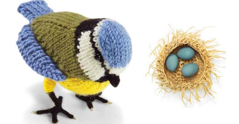 Amigurumi Bird Nest : Knit crochet and sew in aid of the woodland trust