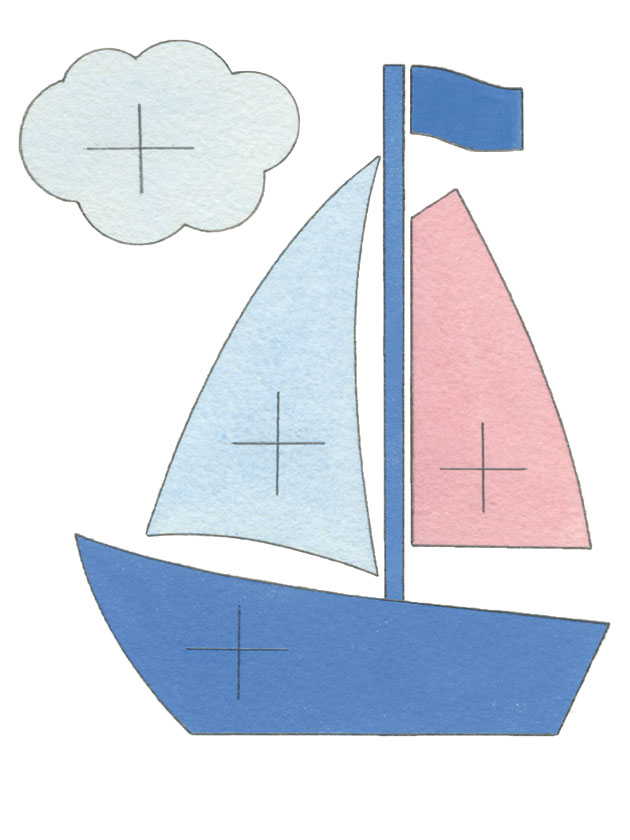 Boat Picture Paper Pattern Cutting Out