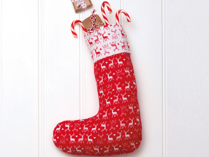 A Classic Christmas Stocking Template To Sew Custom Christmas Stocking Sewing Pattern