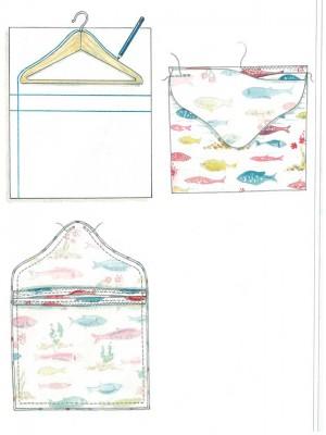 how to make a simple peg bag