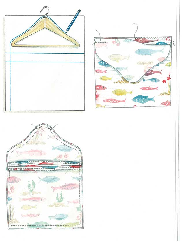 How To Make: A peg bag to hang on your washing line