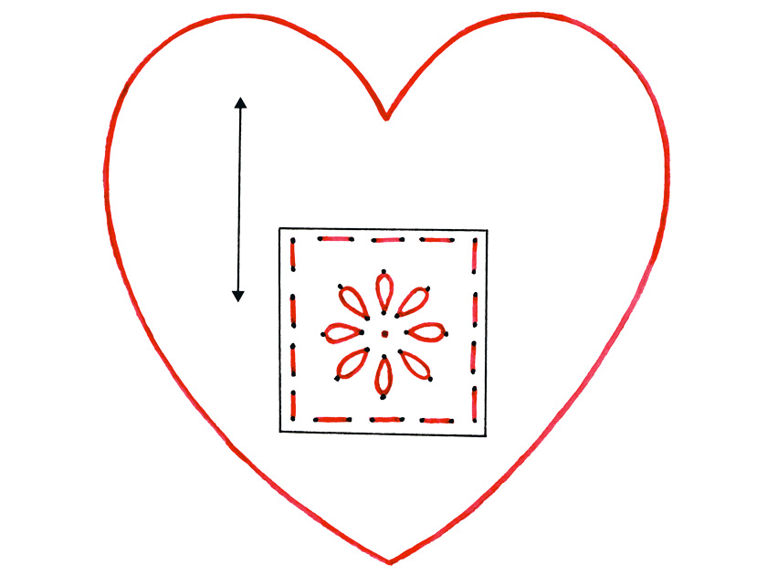 How to make a heart christmas tree decoration for Heart template for sewing