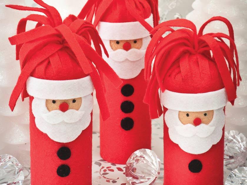 how to make a festive christmas santa gift - How To Make A Christmas