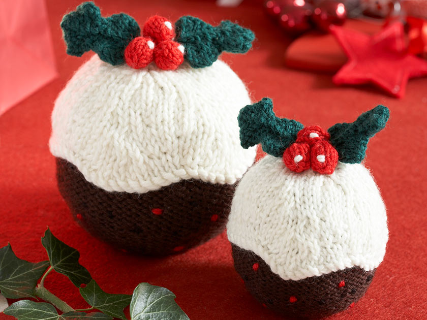 Christmas pudding pattern to get knitting for your home