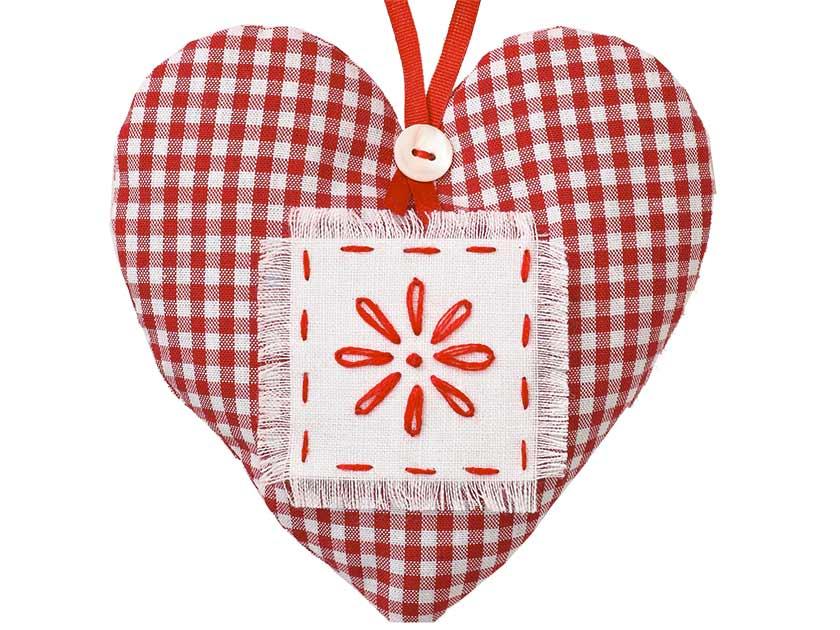 Christmas Heart Decoration.How To Make A Heart Christmas Tree Decoration