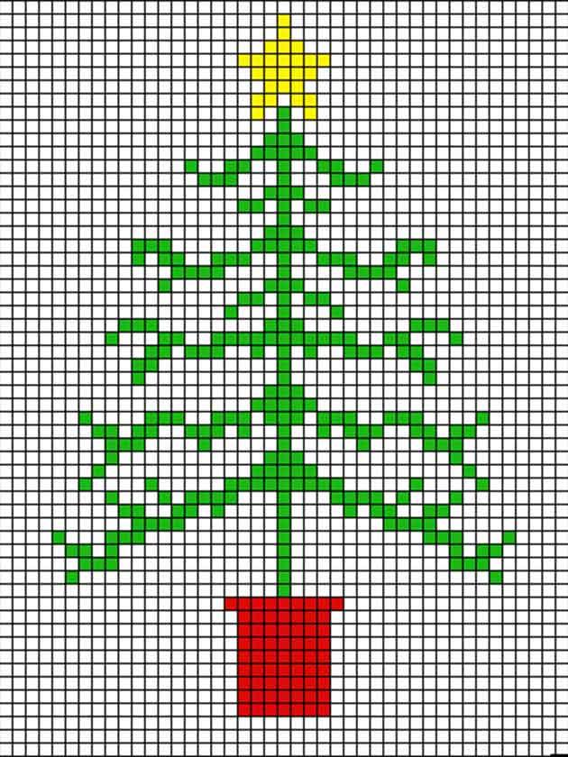 to make a cross stitch Christmas tree card