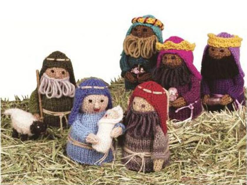Knitting Pattern Christmas Crib Nativity Scene Booklet : Nativity scene pattern thats perfect for Christmas
