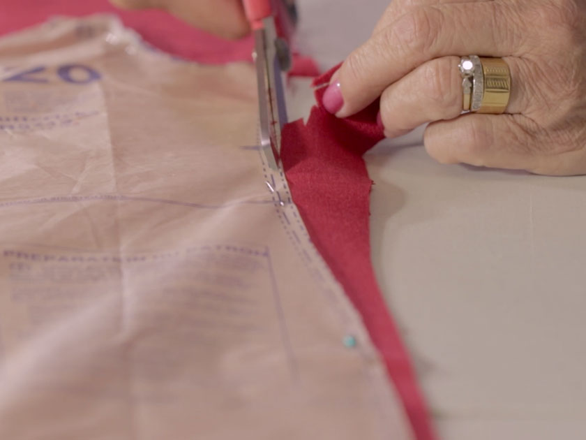 How to cut fabric with a paper pattern