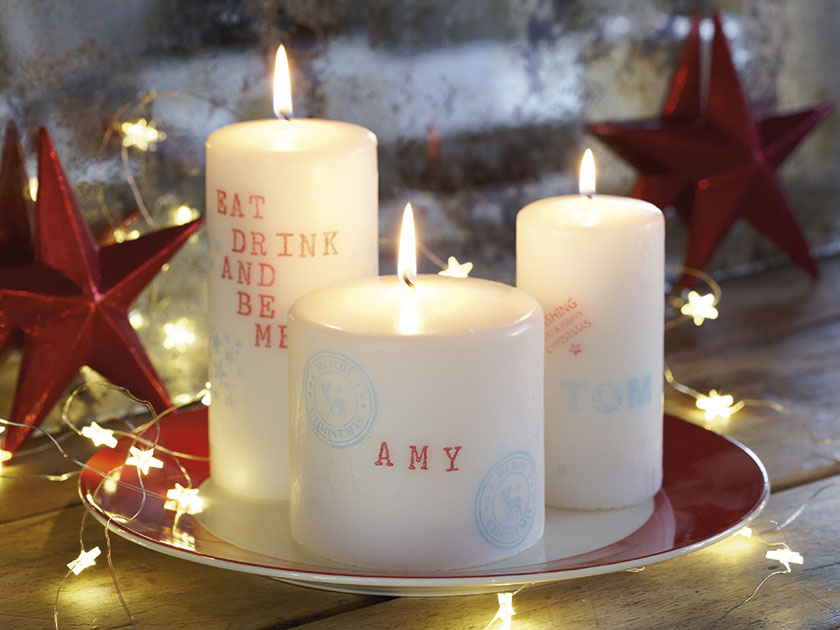 how to make a personalised candle
