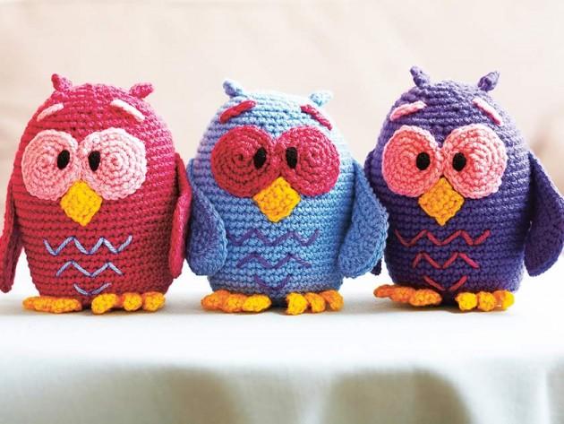 Owl toy trio crochet pattern - Woman\'s Weekly