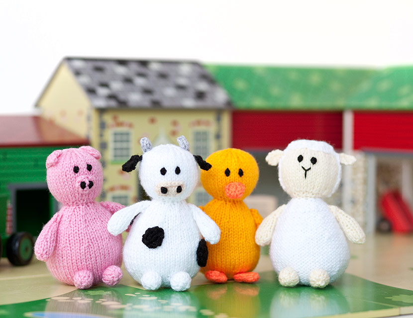 A Fun Farmyard Project To Make Knitted Animals