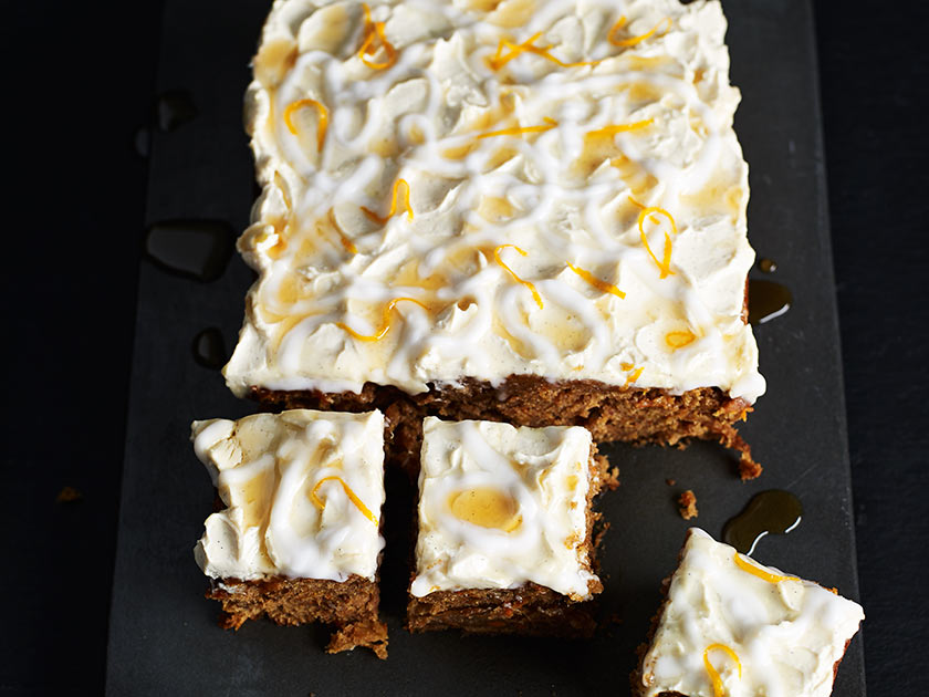 Making A Square Carrot Cake