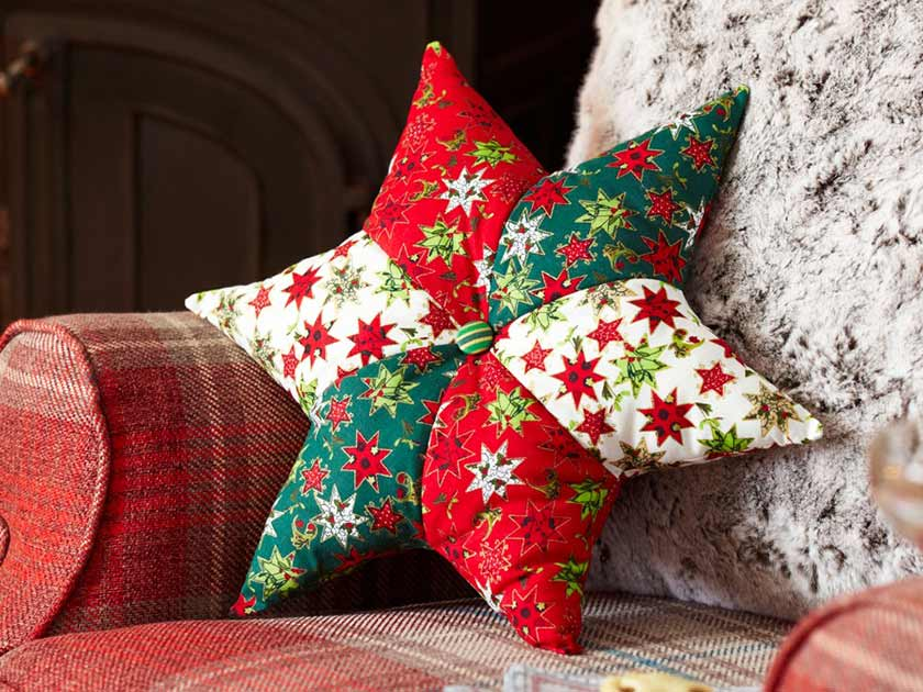 how to make a star cushion
