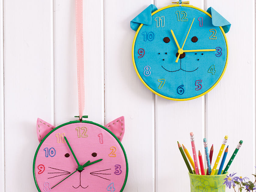 How To Make: A Cat and dog kids' clock