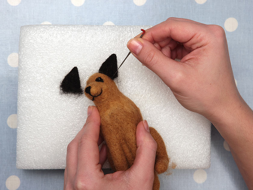 Needle felting a toy dog - Woman\'s Weekly