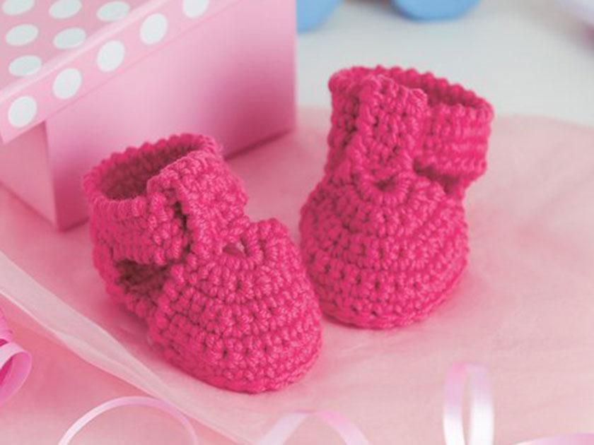 Baby crochet baby shoes crochet pattern
