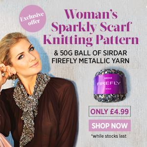 Sparkly scarf promotion