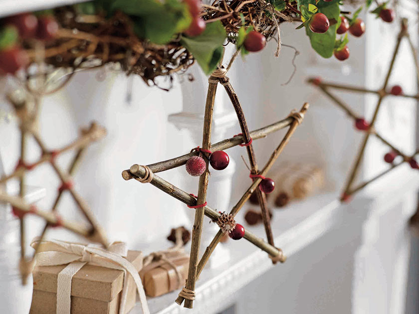 Christmas crafts using twigs