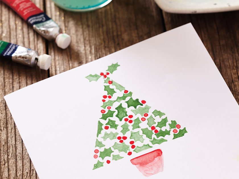 Watercolour painting: Paint your own Christmas cards - Woman\'s Weekly