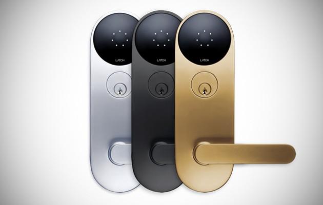 Latch smart door lock