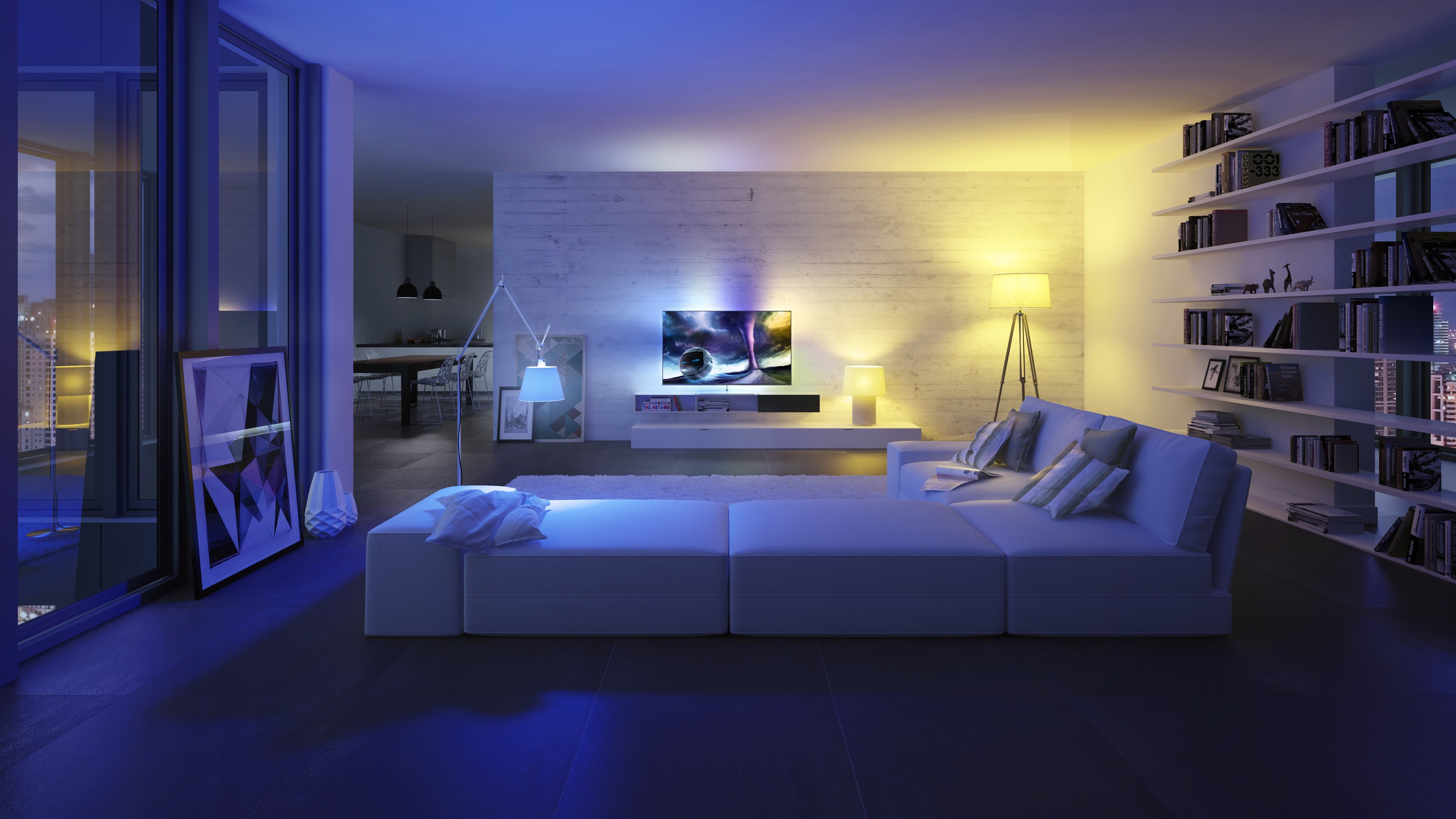 Bedroom Set With Lights