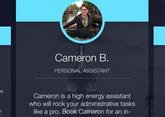 Gystnow's an app controlled servant/concierge service