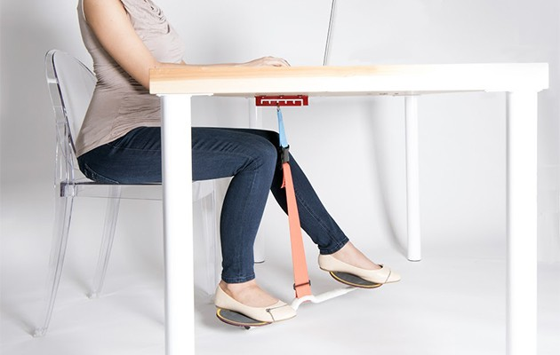 HOVR lets you burn calories effortlessly while sitting at your desk