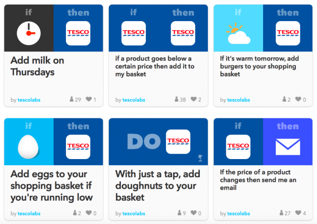 Tesco comes to IFTTT