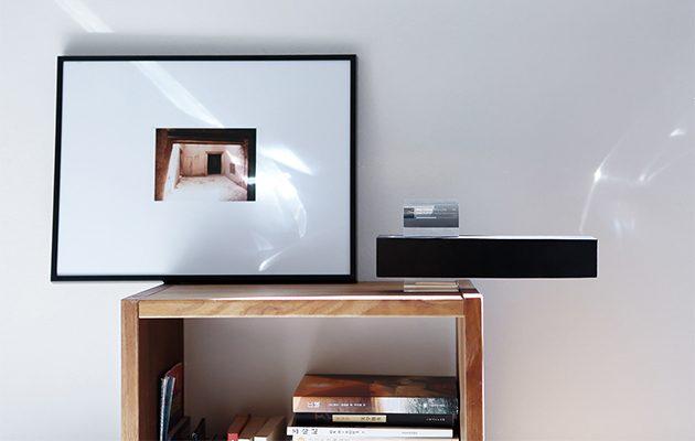Gravity floating wireless speaker