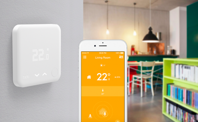 Tado smart thermostat in action