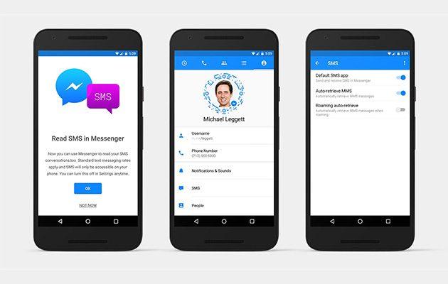 Facebook Messenger texts